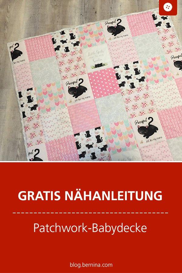 Kostenlose Nähanleitung: Patchwork-Babydecke nähen