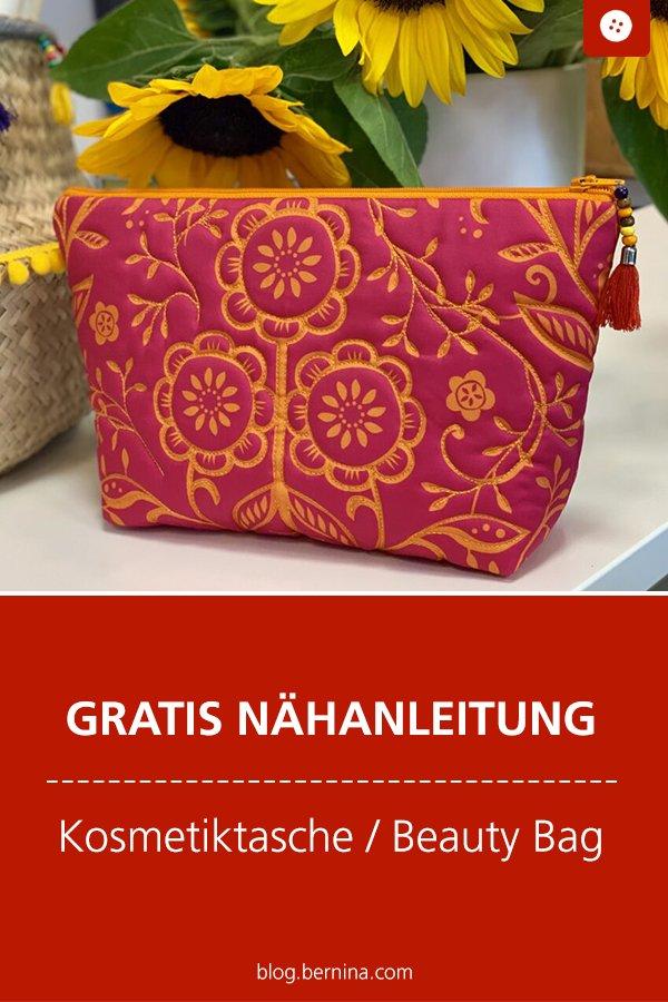 Kostenlose Nähanleitung: Kosmetiktasche / Beauty Bag nähen