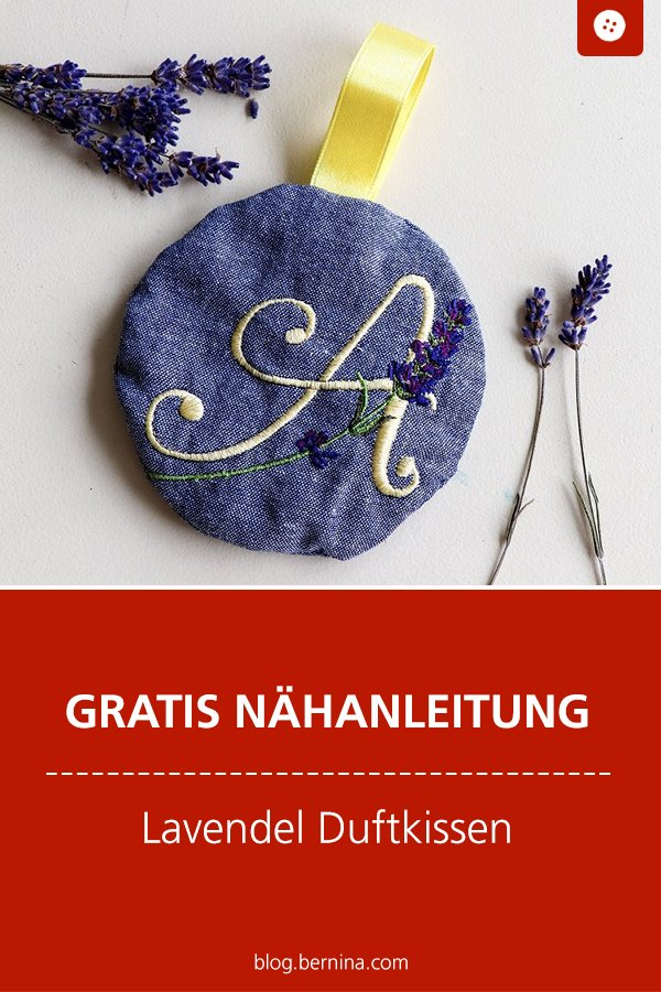 Kostenlose Nähanleitung: Lavendel Duftkissen nähen