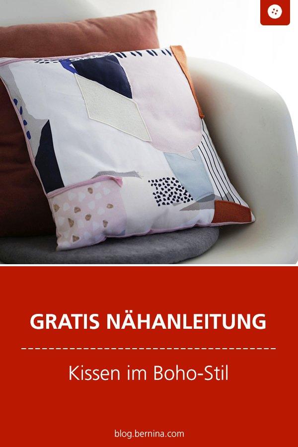 Kostenlose Nähanleitung: Kissen im Boho-Stil nähen
