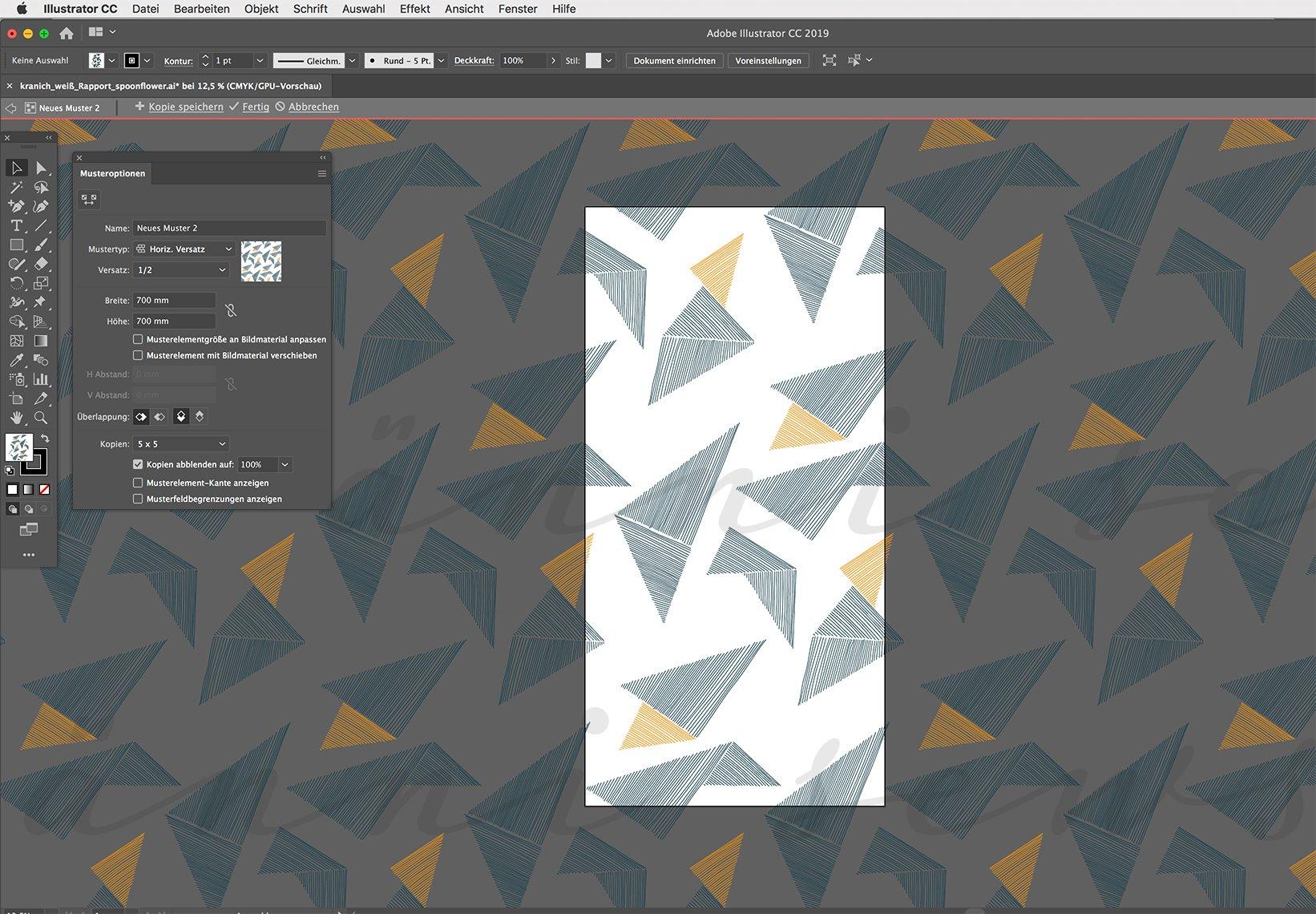 Screenshot Adobe Illustrator Muster erstellen