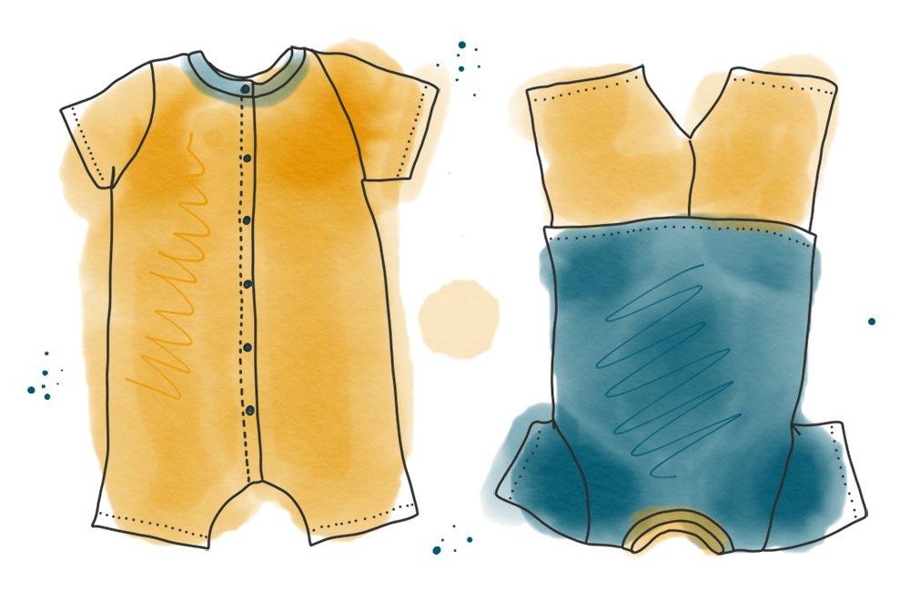 Aquarell Illustration Freebook Schlafanzug und Spieler