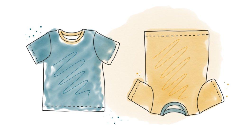Freebook: Kindershirt mit Rundhalsausschnitt