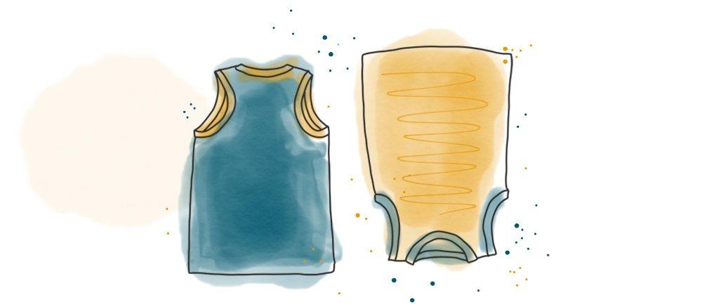 Tanktop, Unterhemd mit leichtem Schwimmerrücken