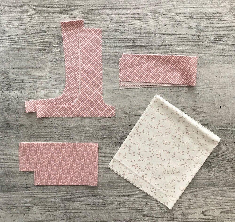 Zuschnitt aus Rosafarbenen Stoffen