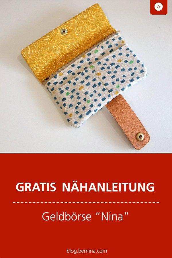 "Gratis Schnittmuster mit Nähanleitung: Portemonnaie & Geldbörse ""Nina"" nähen"