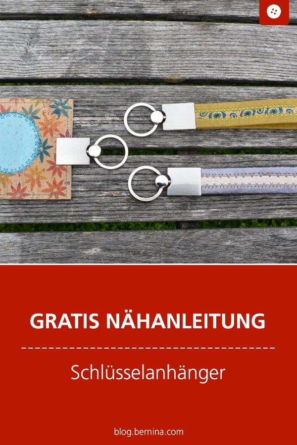 Kostenlose Nähanleitung: Schlüsselanhänger aus Kork nähen