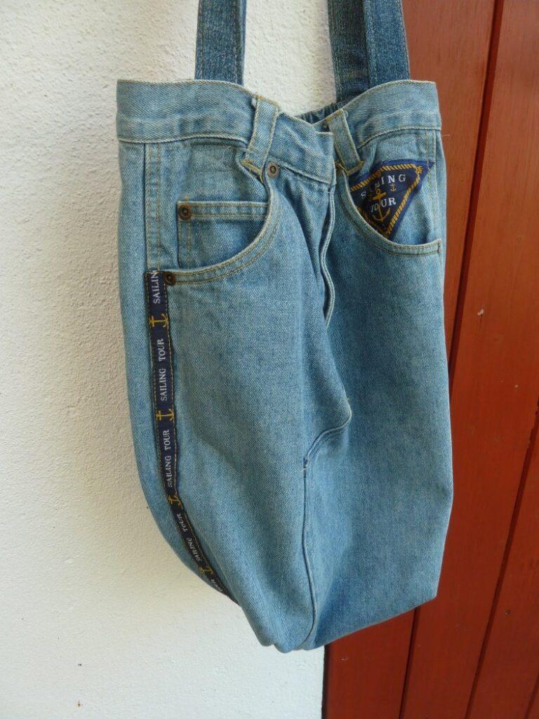Jeansrecycling: Tasche nähen