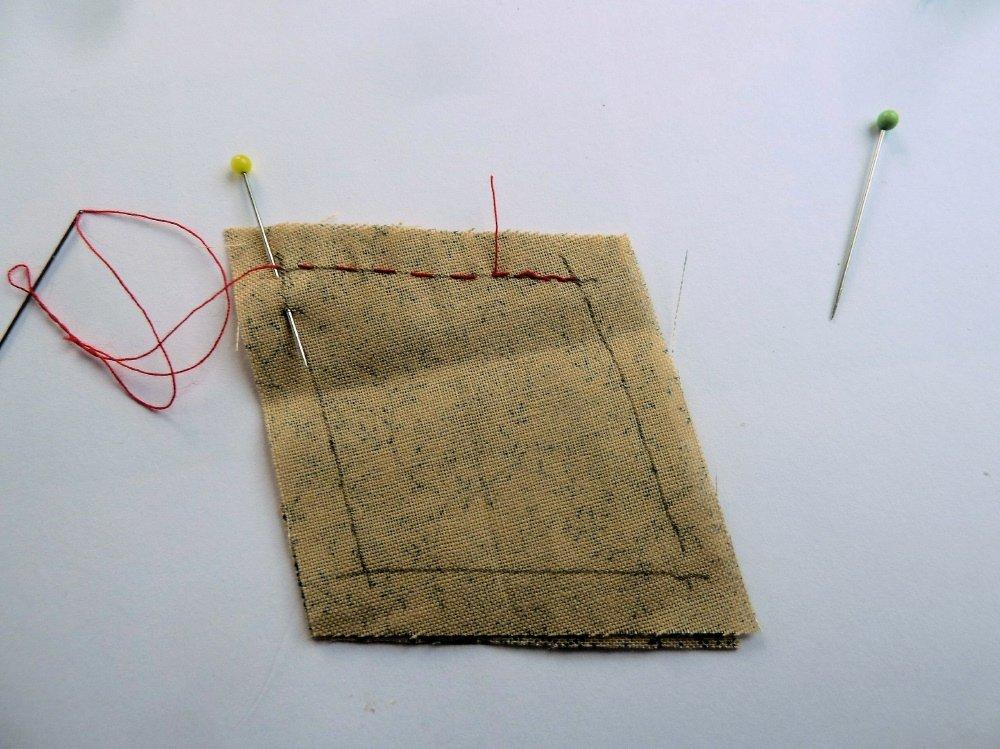 Patchwork mit Handstichen