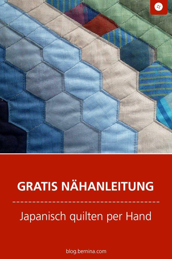 Kostenlose Nähanleitung: Japanisch quilten & Sashiko sticken