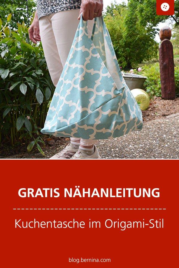 Kostenlose Nähanleitung (Freebie): Kuchentasche im Origami-Stil