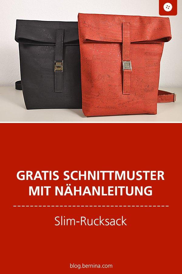 Gratis Schnittmuster mit Nähanleitung (Freebook): Slim-Rucksack nähen Video-Tutorial