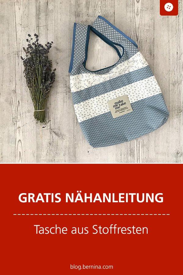 Kostenlose Nähanleitung (Freebie): Tasche aus Stoffresten nähen