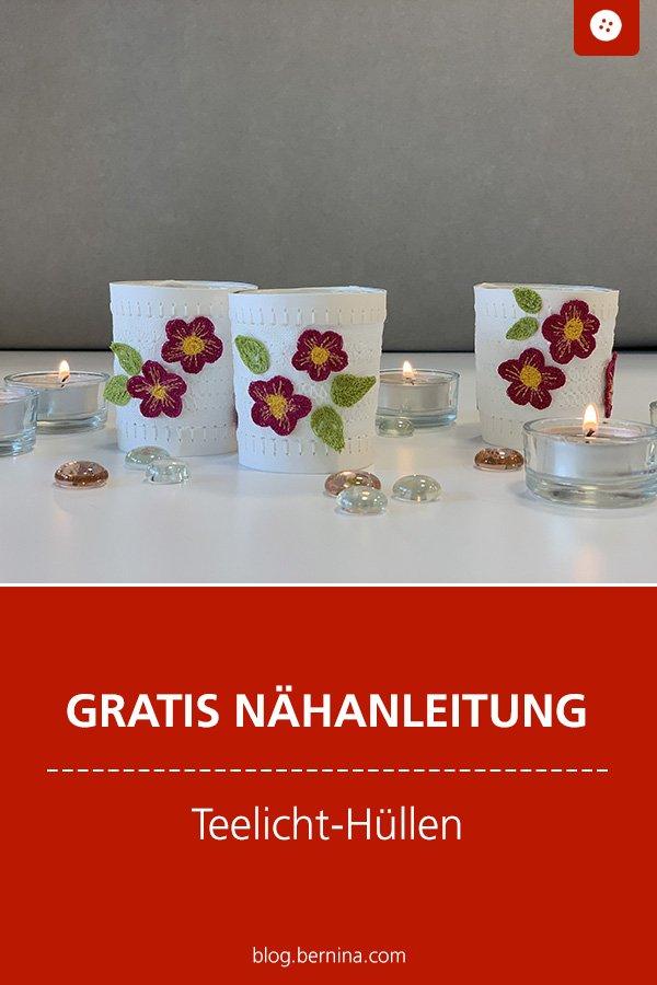Kostenlose Nähanleitung: Teelicht-Hüllen
