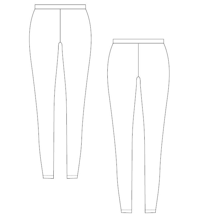 Leggings zuschneiden