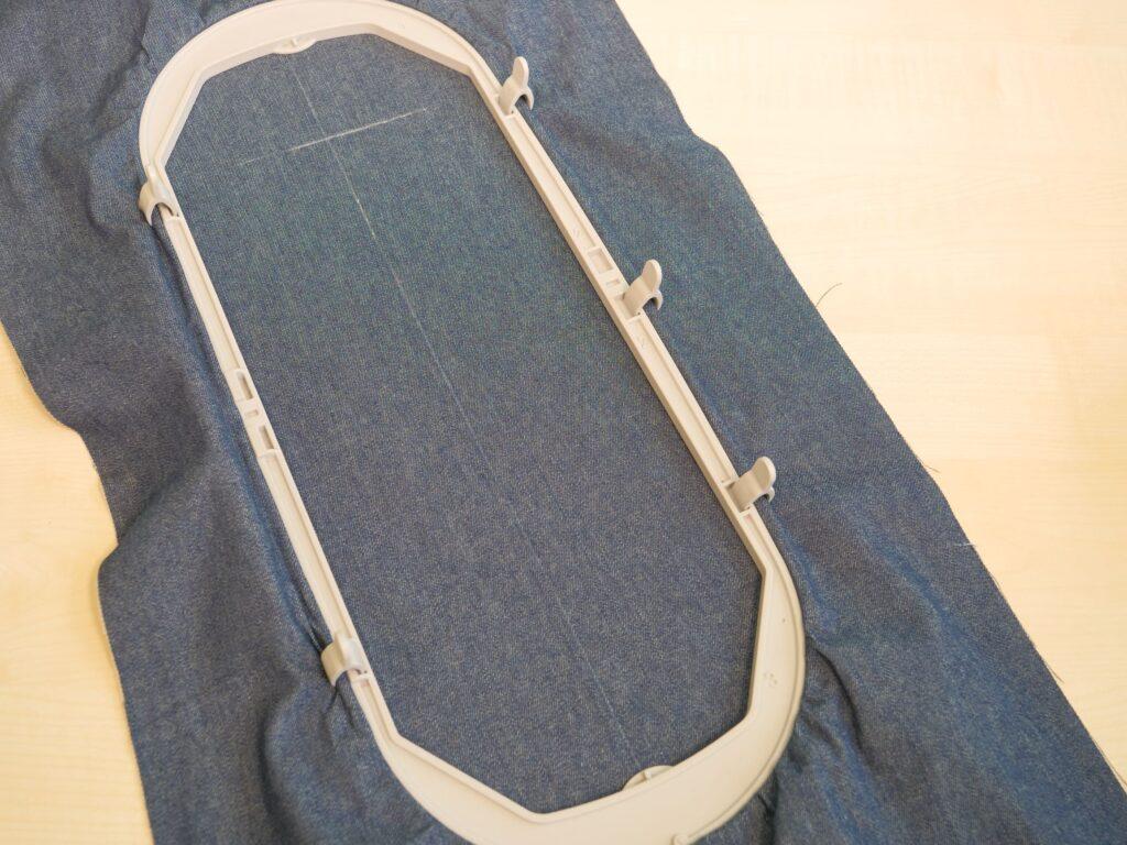 Mega-Rahmen mit Jeansstoff