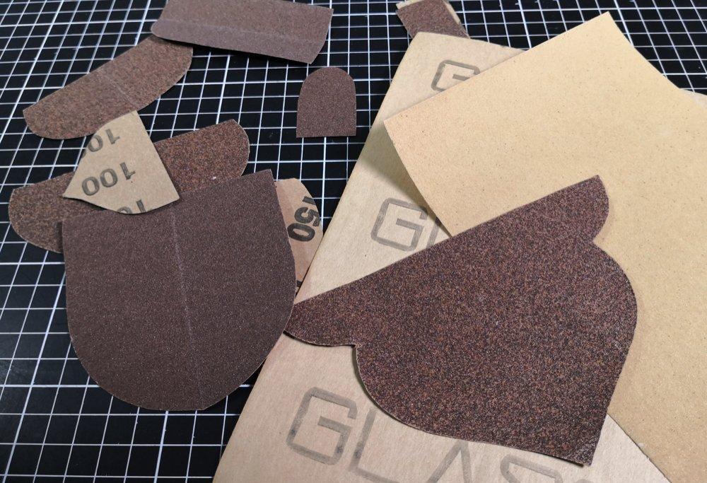 Sandpapierschablone