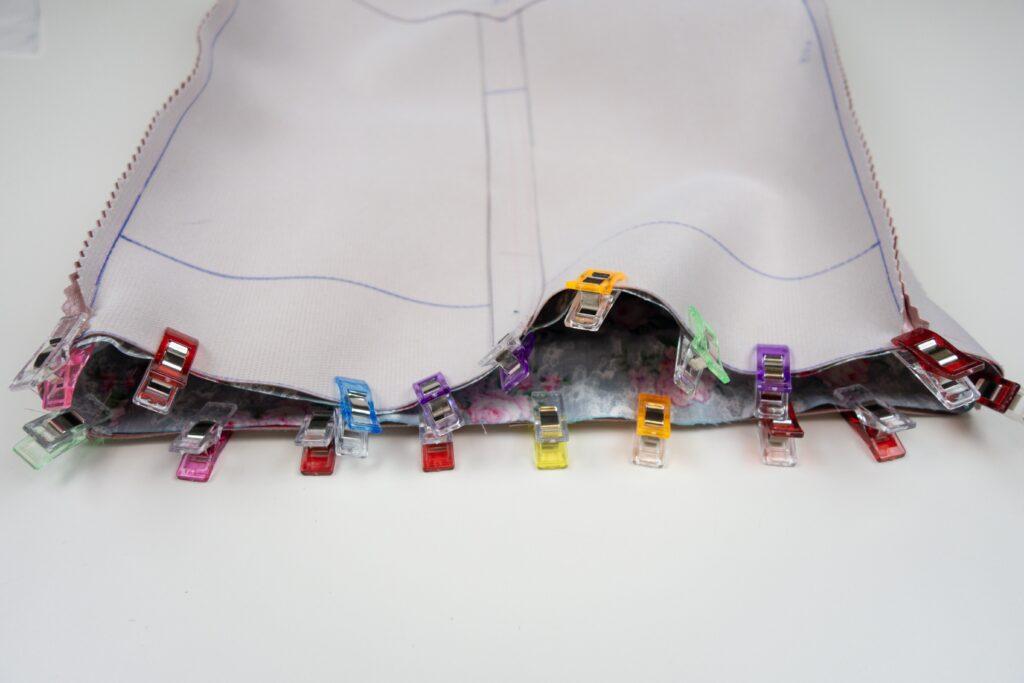 Taschen-Innenfutter mit Tasche verbinden