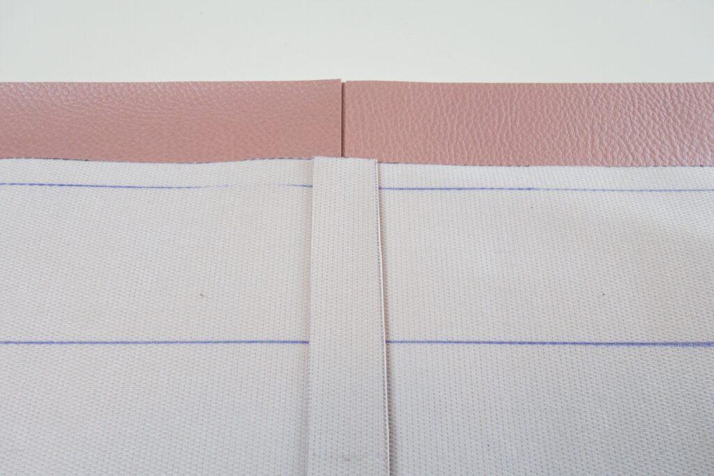 vordere Taschenteile rechts und links auf Untertritt fixiert