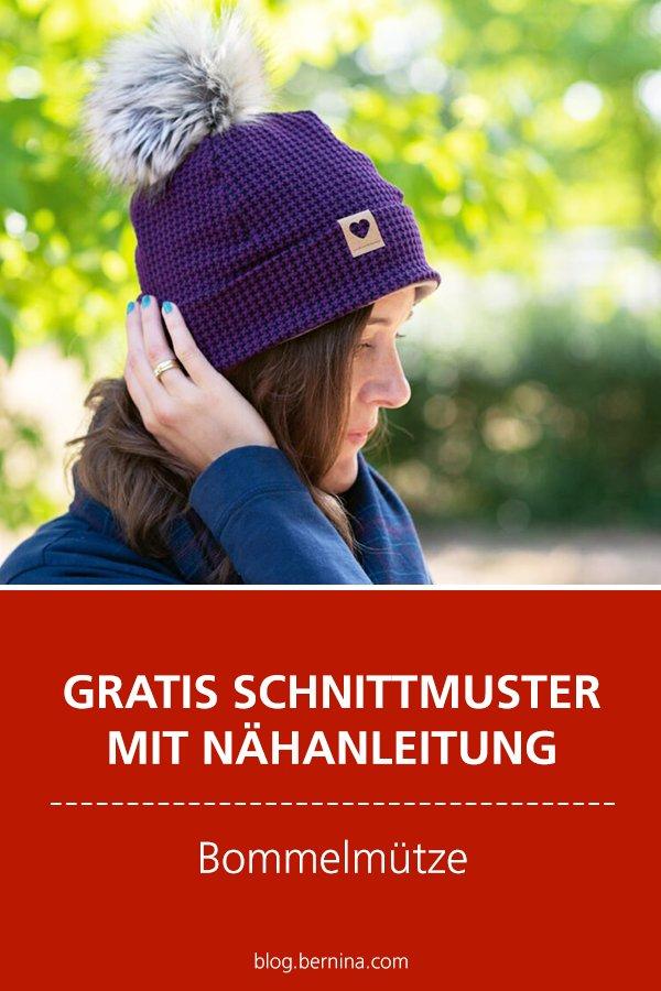 Gratis Schnittmuster mit Nähanleitung (Freebook): Bommelmütze