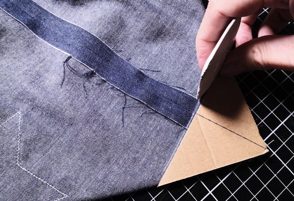 Tekenen met behulp van kleermakerskrijt