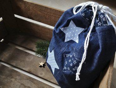 Kostenlose Anleitung: Upcycling Geschenkbeutel nähen