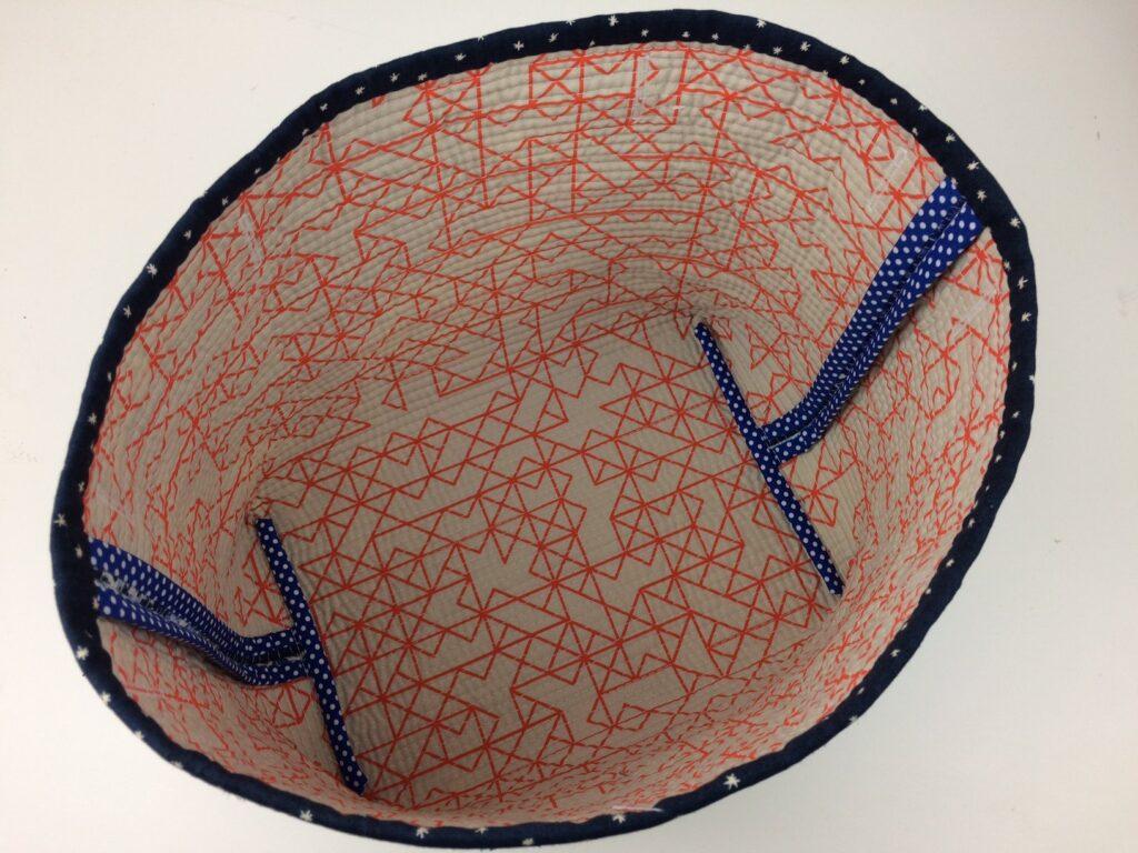BERNINA Advent Calendar Boro Patchwork Bag - Interior View
