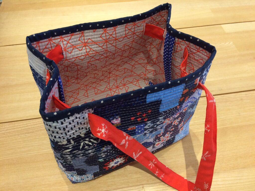 BERNINA Advent Calendar Sustainability Boro Patchwork Bag