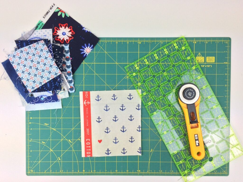 BERNINA Advent Calendar Boro Patchwork Bag - Working with the Fabric Remnants