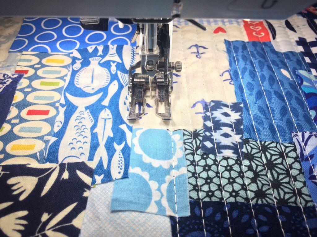 BERNINA Advent Calendar Boro Patchwork Bag - Stitching