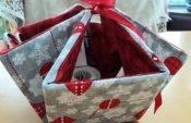 Kostenlose Nähanleitung: Deko-Geschenkkorb nähen
