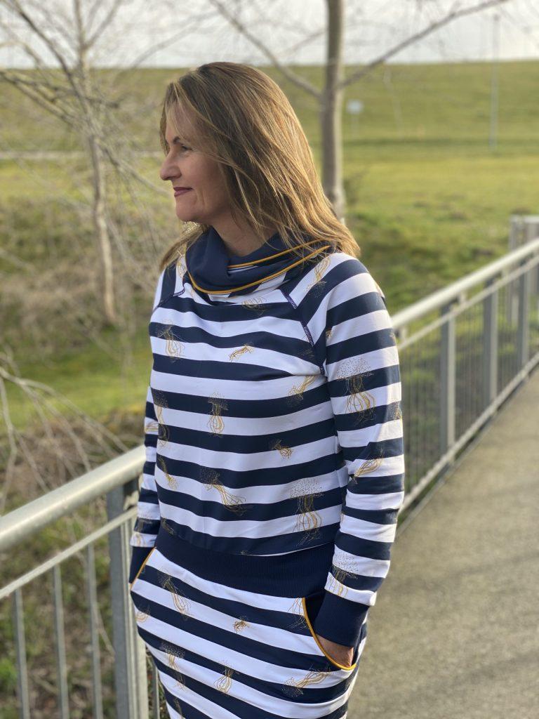 Neues Kleid, genäht mit der bernette 42