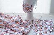 3-Minuten-Behelfsmasken mit individuellem Stoffdruck von Spoonflower