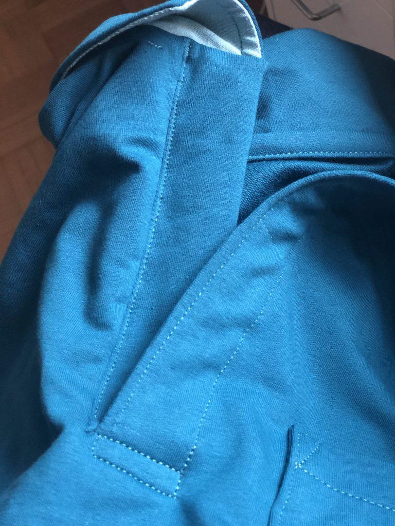 Männershirt nähen – der Poloverschluss
