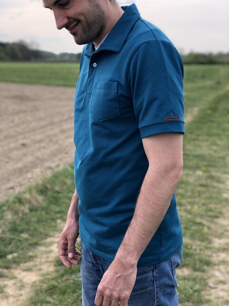 Männershirt nähen – das fertige Poloshirt