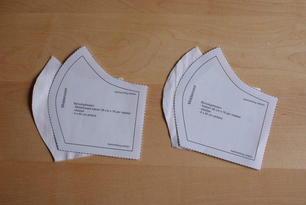 Schnittmuster für Behelfsmaske: auf Stoff legen und zweimal ausschneiden