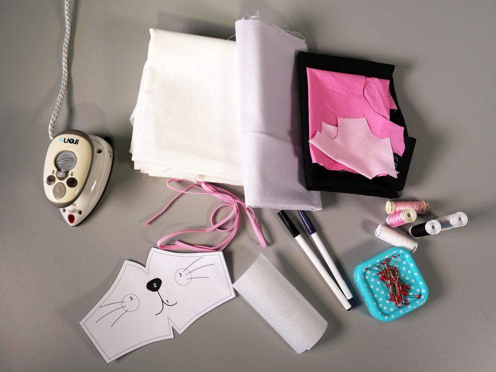 Maske nähen für Kinder – dieses Material brauchen wir