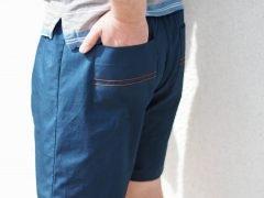 Shorts mit Bobbinwork und Ösen