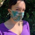 Behelfsmaske – genäht nach der Anleitung von Gaby Seeberg