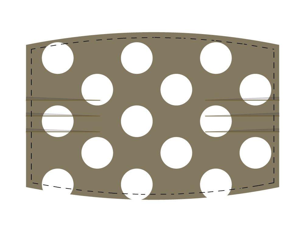Maske mit Falten und geschlossener Wendeöffnung