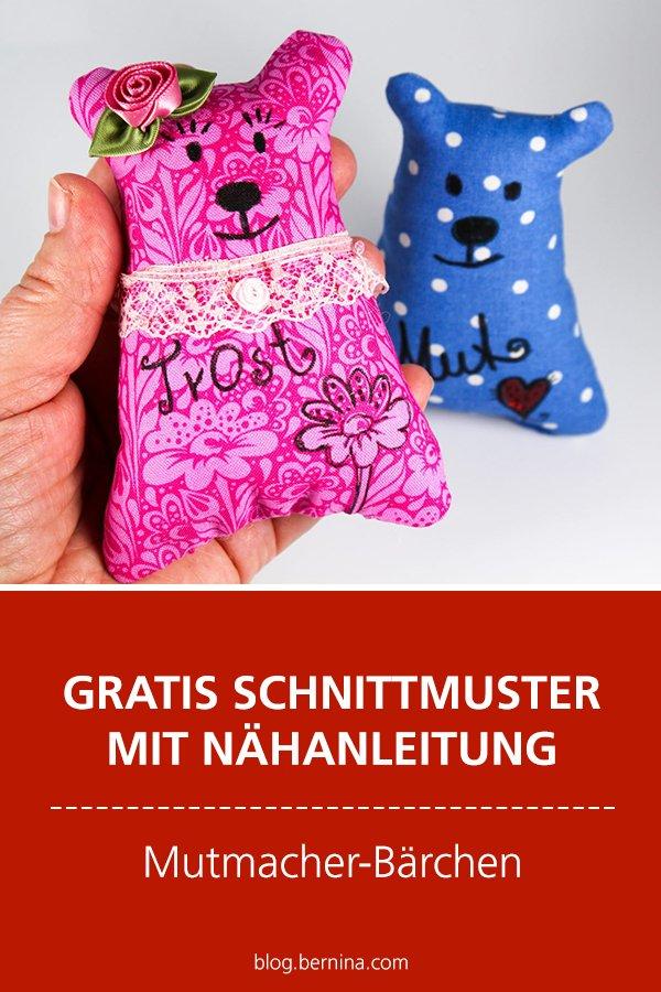 Gratis-Schnittmuster: Mutmacher-Bärchen / Trostspender