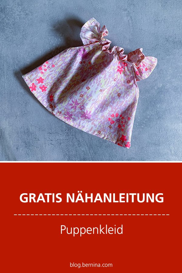 Kostenlose Nähanleitung: Puppenkleid