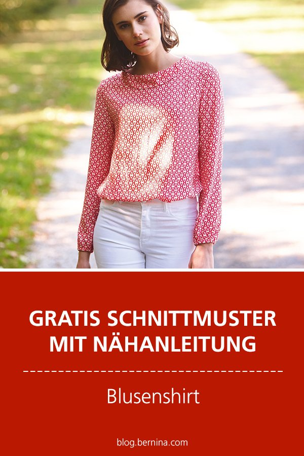 Gratis-Schnittmuster & Nähanleitung: Blusenshirt