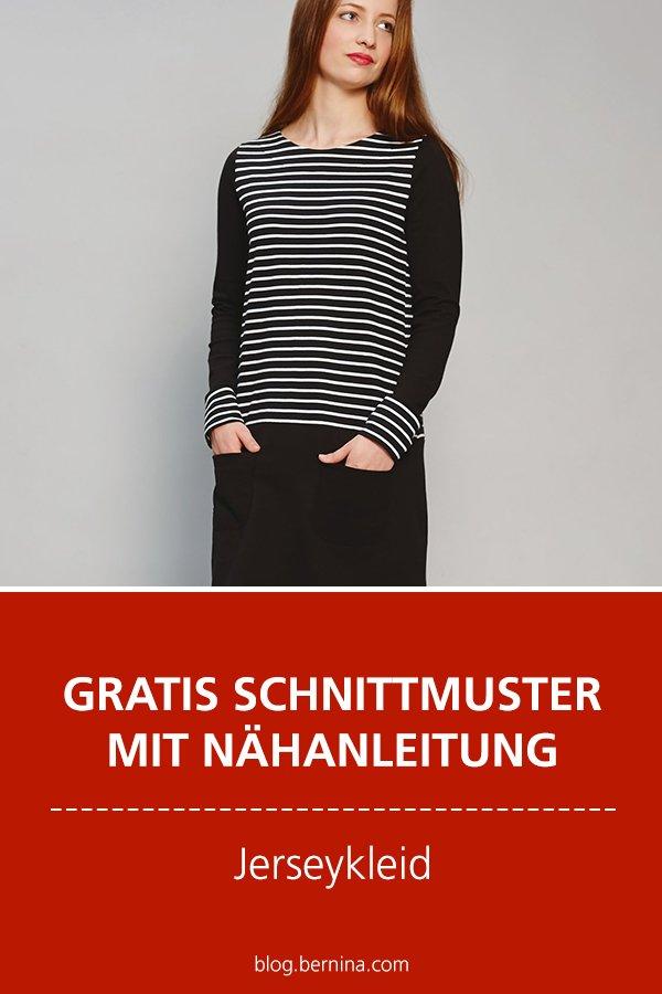 Gratis-Schnittmuster & Nähanleitung: Jerseykleid