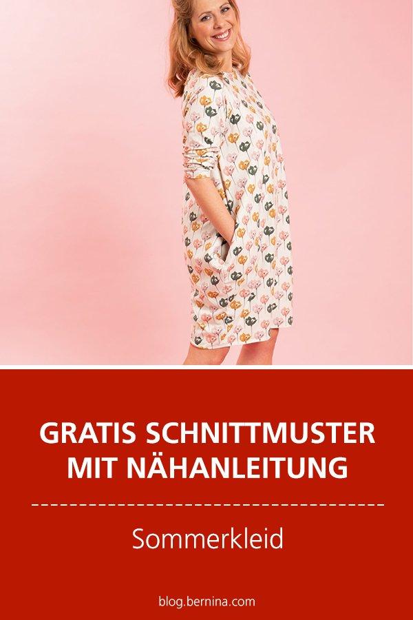 Gratis-Schnittmuster & Nähanleitung: Sommerkleid