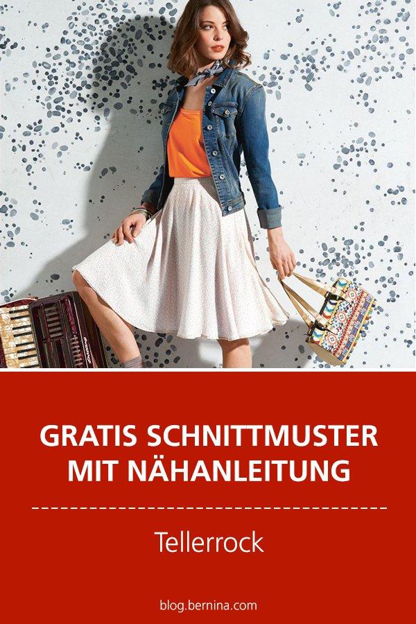 Gratis-Schnittmuster & Nähanleitung: Tellerrock