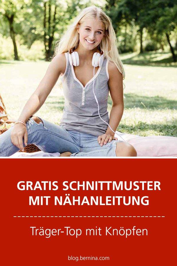 Gratis-Schnittmuster & Nähanleitung: Träger-Top mit Knöpfen