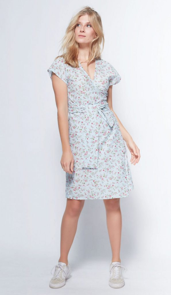 "Wickelkleid nähen – Gratis-Schnittmuster für das Kleid ""Helen"""
