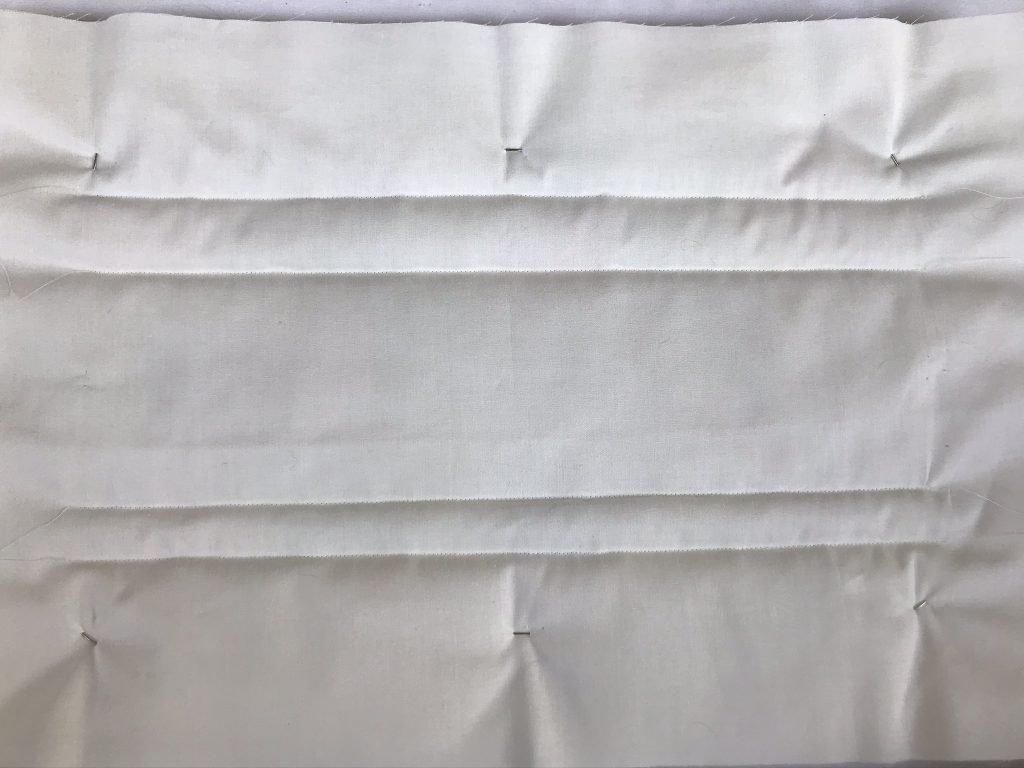 Rückseite des Quilts überprüfen ...