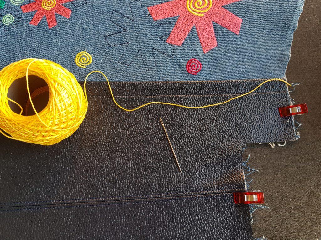 Boden der Tasche mit Rückstichen festnähen